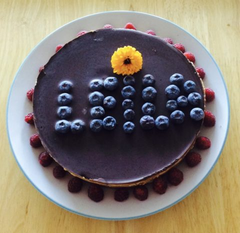 Raw double chocolate cake